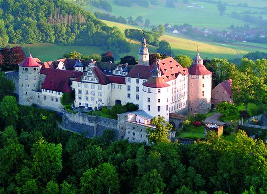 Langenburg castle, the residence of the royal Hohenlohe - Langenburg family. Image courtesy of Thomas Del Mar Ltd.