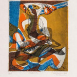 Stanley William Hayter (1901-1988) 'Maternite,' engraving with soft-ground etching and screenprint in colors, 1940, signed, titled and inscribed. Est. £700-£900. Bloomsbury Auctions image