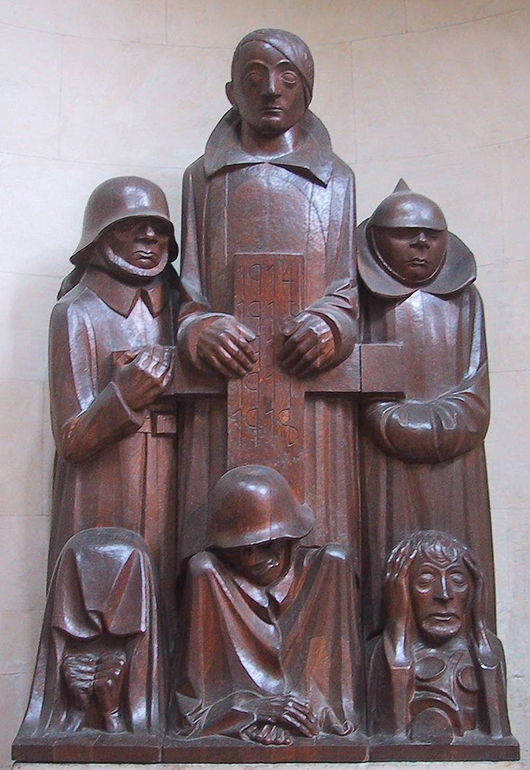 'Das Magdeburger Ehrenmal' (the Magdeburg cenotaph), by Ernst Barlach was declared to be degenerate art due to the 'deformity' and emaciation of the figures—corresponding to Nordau's theorized connection between 'mental and physical degeneration.' Image by Chris 73.This file is licensed under the Creative Commons Attribution-Share Alike 3.0 Unported license.