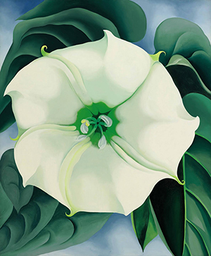 Georgia O'Keeffe, 'Jimson Weed/White Flower No. 1,' oil on canvas, 48 by 40 inches (121.9 by 101.6 cm), painted in 1932. Estimate $10/15 million; sold for $44,405,000. Property from the Georgia O'Keeffe Museum Sold to Benefit the Acquisitions Fund. © 2014 The Georgia O'Keeffe Museum / Artists Rights Society (ARS), New York