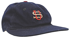 Baseball cap game-used by Babe Ruth during the 1934 Tour of Japan. $50,000 reserve. Grey Flannel Auctions image
