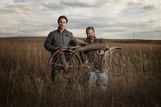 Mike Wolfe (left) and Frank Fritz, History Channel's American Pickers. Photo courtesy HISTORY.