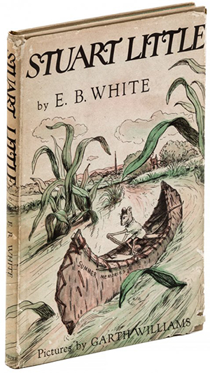 A first edition of E.B. White's 'Stuart Little.' Image courtesy of LiveAuctioneers.com archive and PBA Galleries.