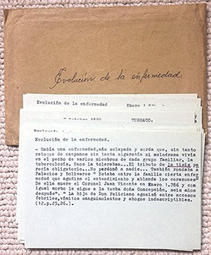 Gabriel García Márquez's notes for 'The General in His Labyrinth' (1989). Image courtesy of the Harry Ransom Center, University of Texas at Austin