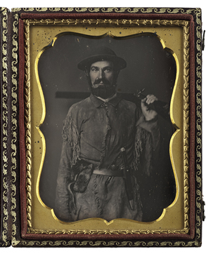 Fine quarter plate daguerreotype of Nathaniel Miller, a California pioneer. Price realized: $15,600. Cowan's Auctions Inc. image