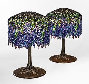 2 wisteria table lamps centerpieces of tiffany auction aloadofball Choice Image