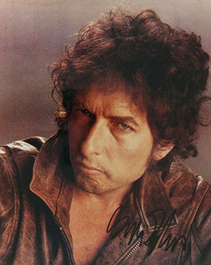 Bob Dylan 'Wanted Man' session autographed photo. Image courtesy of LiveAuctioneers.com archive and Jaes Cox Gallery at Woodstock.