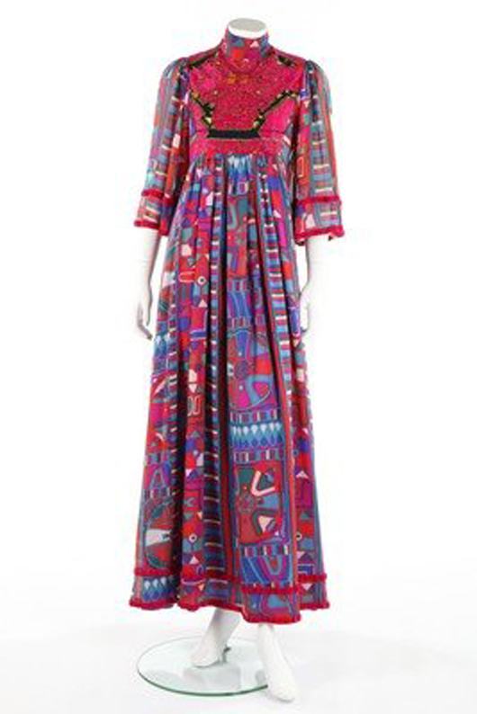 Thea Porter dress. Image courtesy of LiveAuctioneers.com archive