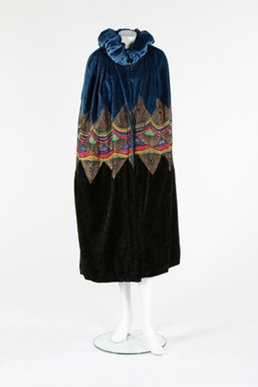 Velvet and lame opera cape. Image courtesy of LiveAuctioneers.com archive