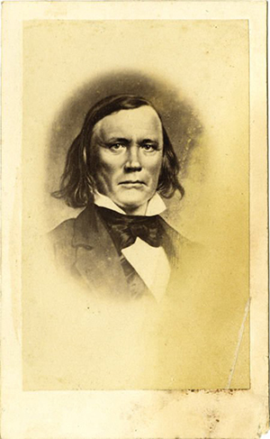 Carte de visite photograph of Kit Carson by E. Anthony, circa 1860s. Image courtesy of LiveAuctioneers.com archive and Heritage Auctions.
