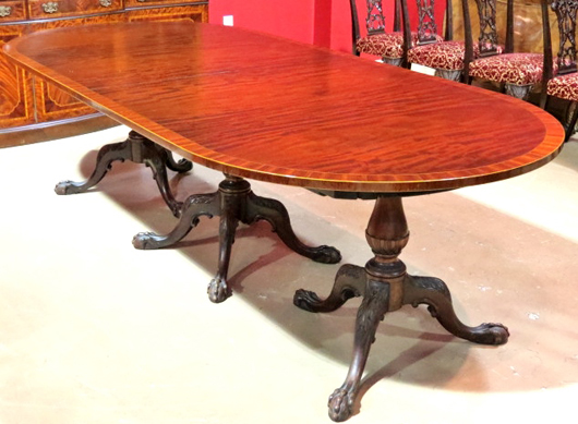 Triple Pedestal Dining Room Table By Schmieg Kotzian With 20 Foot Long