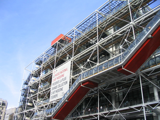 The Pompidou Centre in Paris. Image by Leland. This file is licensed under the Creative Commons Attribution-ShareAlike 3.0 Unported license.