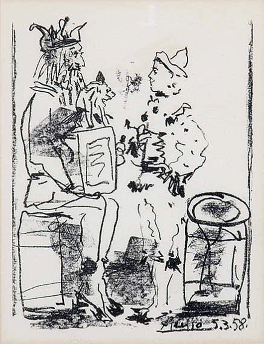 Pablo Picasso lithograph. Image courtesy of the Nicolaysen Art Museum.