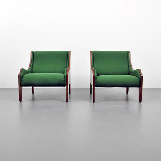 Marco Zanuso 'Milord' lounge chairs, $11,590 the pair. PBMA image