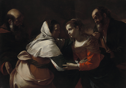 'The Visitation' is an exceptional religious scene by the Baroque master Mattia Preti, whose work illustrates the realistic tendencies perfected by fellow Italian artist, Caravaggio. Image courtesy of the Virginia Museum of Fine Art