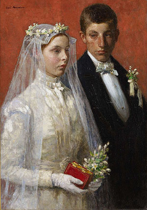 'Marriage' (1893) by American artist Gari Melchers (1860–1932). Image courtesy of Wikimedia Commons.