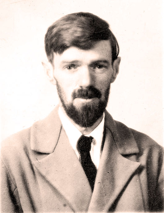 Passport photograph of the British author D.H. Lawrence. Image courtesy of Wikimedia Commons.