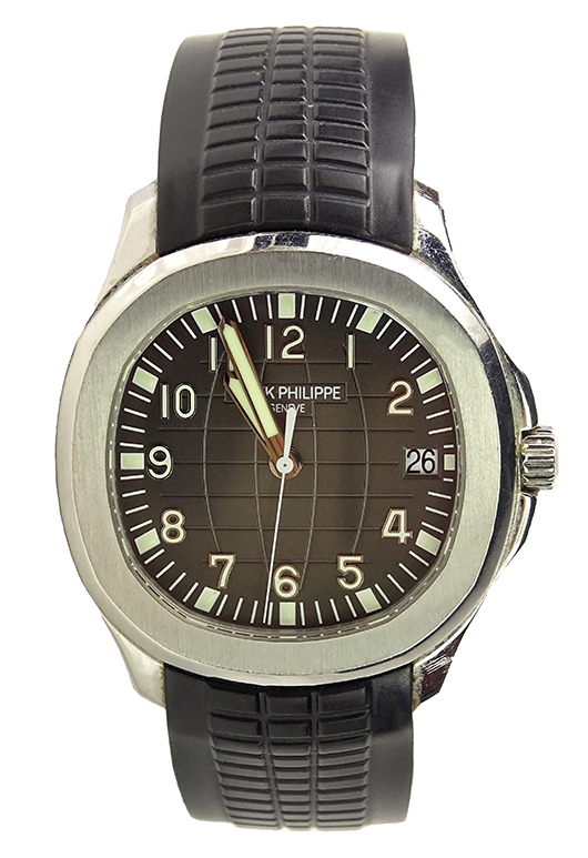 Patek Philippe Aquanaut stainless steel watch. Price realized: $12,980. Kodner Galleries image.