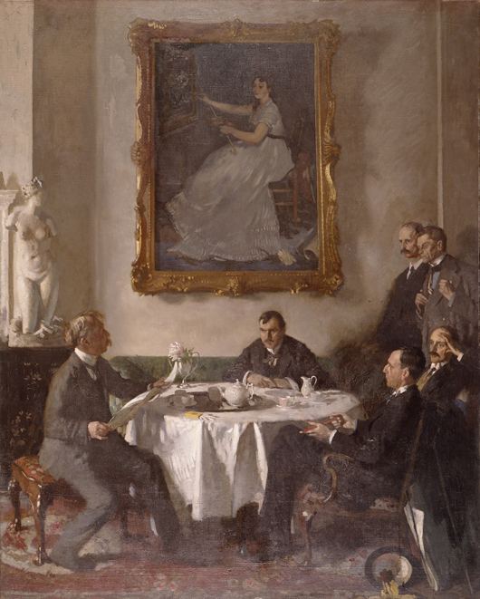 The Norwich Castle Museum & Art Gallery from Jan. 31 to April 19 will include this work by Sir William Orpen (1878-1931) entitled 'Homage to Manet' of 1909. Image courtesy ©Manchester City Galleries.