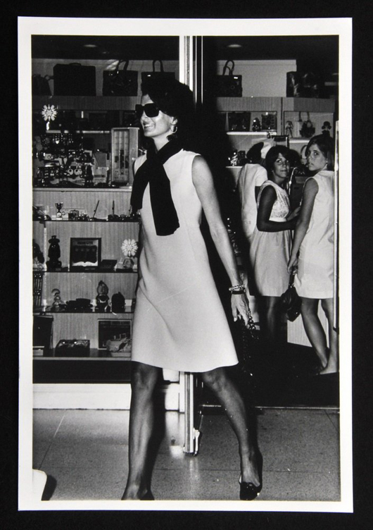 Robert Davidoff Silver Gelatin Print Of Jacqueline Kennedy Onassis At West Palm Airport In Florida