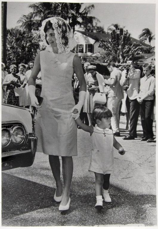 Robert Davidoff Silver Gelatin Print Of Jacqueline Kennedy Onassis A Trendsetter In Her Mantilla