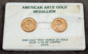 Half-ounce commemorative gold pieces. Stephenson's Auctioneers image