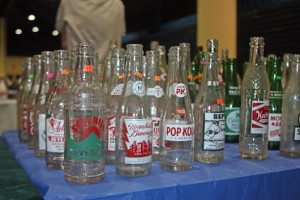 They may not be antique, but collectors will pay for vintage bottles transfer-decorated with leading brands both past and present.