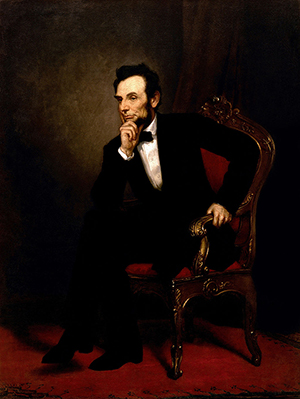 'Lincoln,' painting by George Peter Alexander Healy (1869). Image courtesy of Wikimedia Commons.