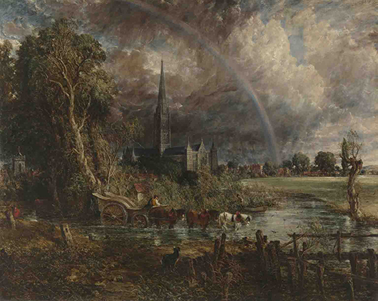 'Salisbury Cathedral from the Meadows,' 1831, John Constable