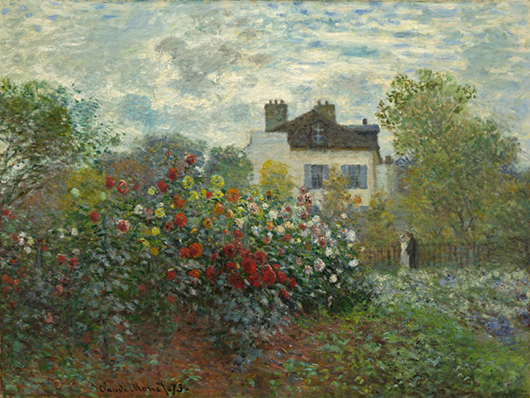 Claude Monet's oil on canvas painting 'The Artist's Garden in Argenteuil' (A Corner of the Garden with Dahlias) was painted in 1873 and is one of the many works of art that will visit Philadelphia this summer. (National Gallery of Art, Washington, Gift of Janice H. Levin, in Honor of the 50th) Anniversary of the National Gallery of Art