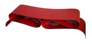 Agenore Fabbri, Tecno, Nastro di Gala bench, varnished red metal, 1985. Estimates: €7,000-€7,500 ($7,908-$8,473). Nova Ars image