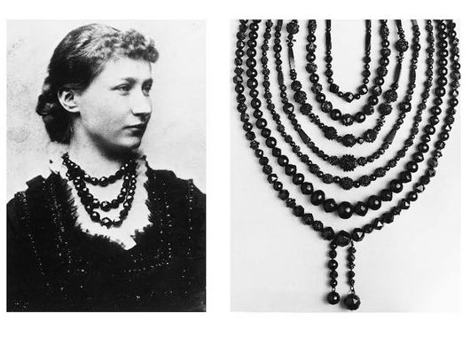 Left Princes Augusta Wearing Faceted Whitby Jet Beads On The Eve Of Her Wedding