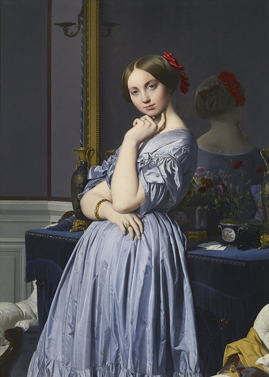 'Portrait of the Comtesse d'Haussonville' by Jean-Auguste-Dominique Ingres, the centerpiece of the Frick Collection exhibition. Image courtesy of Wikimedia Commons.