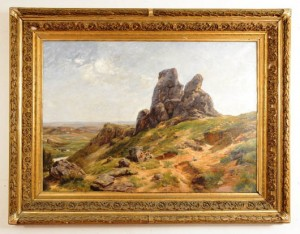 Jose Maria Velasco (Mexican, 1849-1912), oil on canvas landscape of a valley in Mexico, held in private Mexican family collection for more than 50 years, 37 x 53 inches, signed and dated lower left. Estimate $30,000-$100,000. Bruhns Auction Gallery image