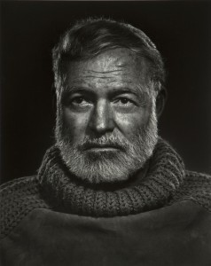 This moody 1957 portrait of Ernest Hemingway by Canadian photographer Yousuf Karsh (1908-2002) is offered with a $5,000 to $7,000 estimate. John Moran Auctioneers