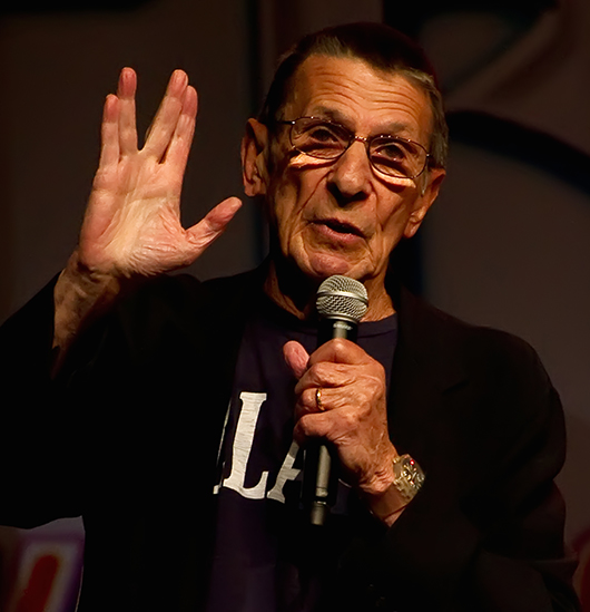 Leonard Nimoy (Spock) at the Las Vegas Star Trek Convention 2011. Image by Beth Madison. This file is licensed under the Creative Commons Attribution 2.0 Generic license.