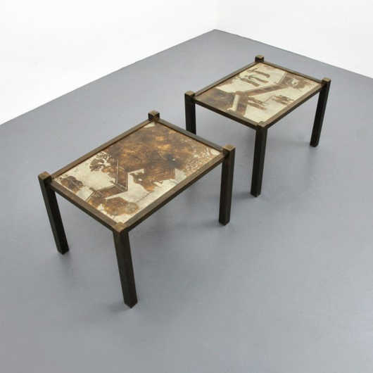 Pairs Of Matching Tables Are A Lucky Find. This Set In What The LaVerne  Catalog
