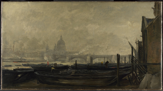 Charles-François Daubigny, 'St. Paul's from the Surrey Side,' 1871-3, oil on canvas. The National Gallery, London Presented by friends of J.C.J. Drucker, 1912. © The National Gallery, London.