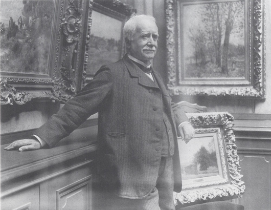 Nineteenth-century French art dealer Paul Durand-Ruel in his gallery, the subject of a new exhibition at London's National Gallery from March 4 to May31. Photograph taken by Dornac, about 1910. Archives Durand-Ruel © Durand-Ruel & Cie.