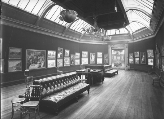 Many now famous Impressionist paintings on show for the first time at the Grafton Gallery, London in 1905. Silver gelatin print. Archives Durand-Ruel © Durand Ruel & Cie. To be shown at 'Inventing Impressionism' at the National Gallery from March 4 to May 31.