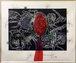 Lot 6141 – Joan Miro,'Untitled.' Estimate: $3,000-$5,000. Susanin's Auctioneers & Appraisers image