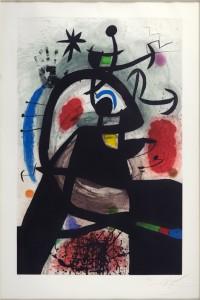 Lot 6015 – Joan Miro,'Le Permissionnaire.' Estimate: $25,000-$30,000. Susanin's Auctioneers & Appraisers image