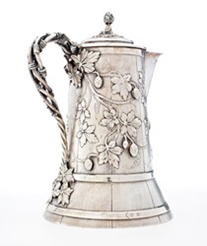 Edward C. Moore (American, 1827–1891) designer and maker for Tiff any & Co. (American, est. 1837) (retailer), beer pitcher, about 1857, Promised Gift of Martin K. Webb and Charles L. Venable.