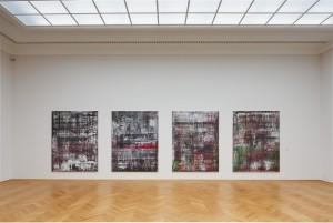 Gerhard Richter, Abstrakte Bilder (937/ 1-4), 2014, Öl auf Leinwand, © Gerhard Richter Archive, Staatliche Kunstsammlung Dresden. Foto von David Brandt. Fotos mit freundlicher Genehmigung von S.K.D.