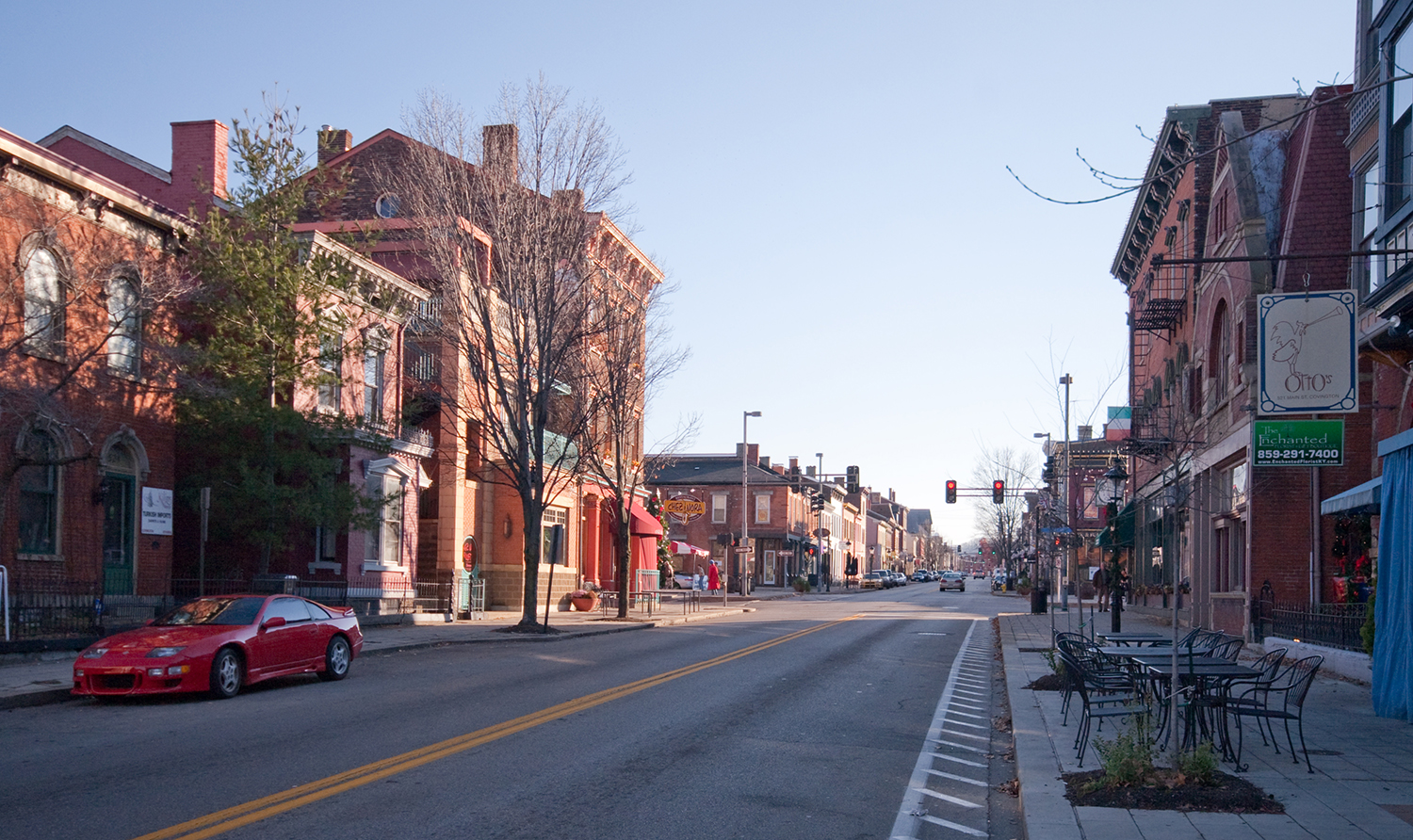 Main Strasse in the historic district of Covington, Ky., across the Ohio River from Cincinnati. Photo by Greg Hume. This file is licensed under the Creative Commons Attribution-Share Alike 3.0 Unported license.