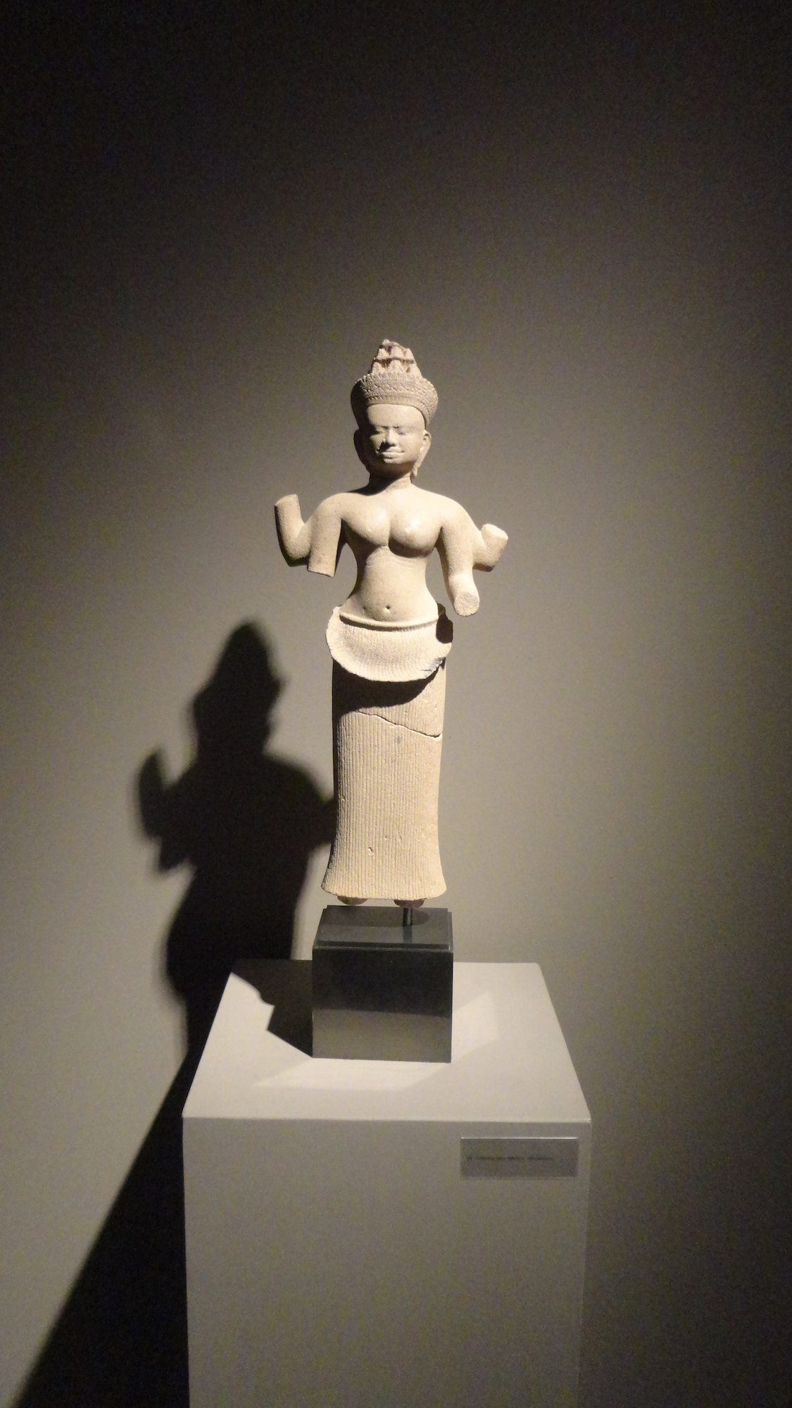 This 10th-century Cambodian statuette of a devi or goddess, from Pre-Rup in Angkor, was one of numerous antiquities on sale at the European Fine Art Fair in Maastricht in March. Image Auction Central News.