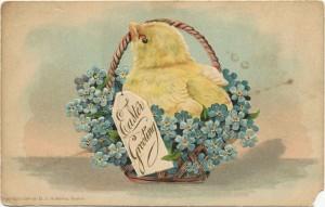 This 'Easter Greeting' postcard is marked 'Copyright 1906 by B.I. Robbins, Boston.' Karen Knapstein image, courtesy of Antique Trader Karen Knapstein image, courtesy of Antique Trader