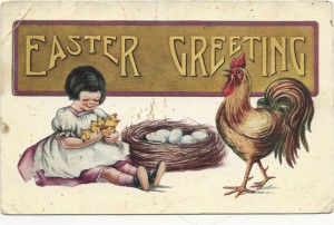 This 'Easter Greeting' postcard by Whitney of Worcester, Mass. Karen Knapstein image, courtesy of Antique Trader