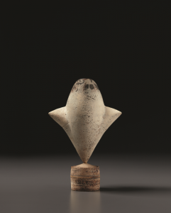 A rare white 'Cycladic' bud form vase with wings, 1975, sold for $31,250 in a 2011 Design Masters sale at Phillips. Phillips image