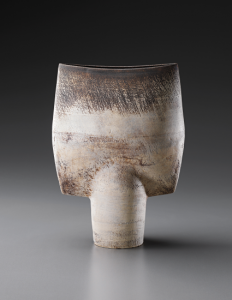 The Stern Collection included many 'Spade' vases featuring flattened rectangular forms elevated on a circular base. This massive example, 16 inches high, brought $112,500 in 2013. Phillips image